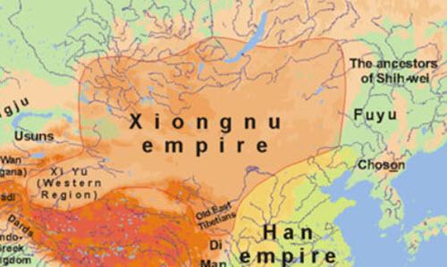 Xiongnu map