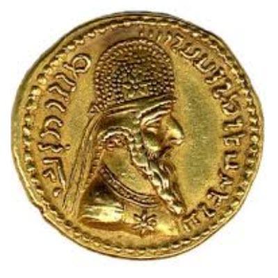 Sasanian gold coin